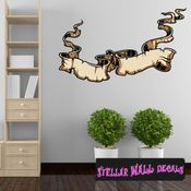 Scroll Wall Decal - Wall Fabric - Repositionable Decal - Vinyl Car Sticker - usc003