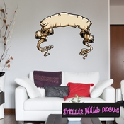 Scroll Wall Decal - Wall Fabric - Repositionable Decal - Vinyl Car Sticker - usc008