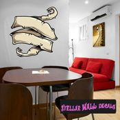 Scroll Wall Decal - Wall Fabric - Repositionable Decal - Vinyl Car Sticker - usc009