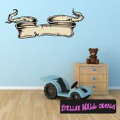 Scroll Wall Decal - Wall Fabric - Repositionable Decal - Vinyl Car Sticker - usc013