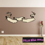 Scroll Wall Decal - Wall Fabric - Repositionable Decal - Vinyl Car Sticker - usc014