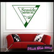 Seaside Motor Oil ANTIQUES Vinyl Wall Decal - Wall Sticker - Car Sticker AntiquesMC036 SWD