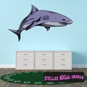 Shark Wall Decal - Wall Fabric - Repositionable Decal - Vinyl Car Sticker - usc001