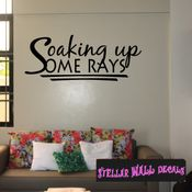 Soaking up some rays Summer Holiday Wall Decals - Wall Quotes - Wall Murals HD129 SWD