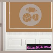 Sports Basketball Baseball Football Toy Labels Vinyl Wall Decal Sticker Mural Quotes Words LB006balls SWD