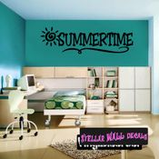 Summertime Summer Holiday Wall Decals - Wall Quotes - Wall Murals HD014 SWD