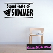 Sweet taste of summer watermelon Summer Holiday Wall Decals - Wall Quotes - Wall Murals HD122 SWD