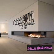 Thanksgiving a day of gratitude  Fall Holiday Wall Decals - Wall Quotes - Wall Murals HD144 SWD