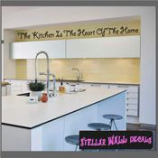 The kitchen is the heart of the time Wall Quote Mural Decal SWD