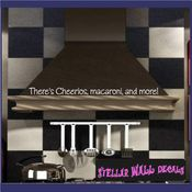 There's Cheerios, macaroni, and more! Wall Quote Mural Decal SWD