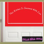This kitchen is seasoned with love Wall Quote Mural Decal SWD