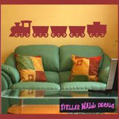 Train Transportation Vinyl Wall Decal Sticker Mural Quotes Words CP088 SWD