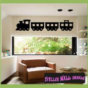 Train with carts Transportation Vinyl Wall Decal Sticker Mural Quotes Words CP089 SWD