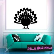 Turkey Thanksgiving Fall Holiday Wall Decals - Wall Quotes - Wall Murals CP097 SWD