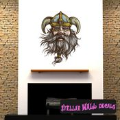 Viking Wall Decal - Wall Fabric - Repositionable Decal - Vinyl Car Sticker - usc005