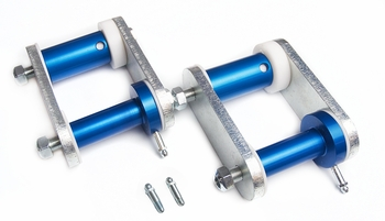 1967, 1968, 1969, 1970, 1971, 1972, 1973 Mustang Del-a-lum Bushing and Shackle Kit Caltrac Bars and Leaf Springs Global West Suspension