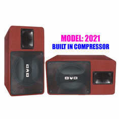 BVB KTV-555 Professional 3000W Vocalist Karaoke Speaker System (Pair) Newest: 2021 Built in Compressor & Super Woofer