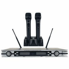 BVB VM-555MKII Professional Dual UHF Rechargeable Wireless Microphones Karaoke System FREE: Charger Stand Clearance Sale
