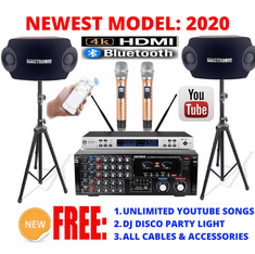 "<i><b><font color=""#FF0000"">Model: 2020 Youtube Karaoke System by Iphone/Ipad &amp; Pc Tablet</font></b></i> Professional 2000W Complete Karaoke System Special with HDMI, Optical & Bluetooth <font color=""#003FFF"">Best Seller</font>"