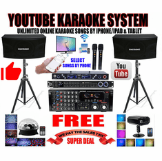"<i><b><font color=""#FF0000"">Newest: 2020 Youtube Karaoke System by Iphone/Ipad &amp; Pc Tablet</font></b></i> Professional 2000W Complete Karaoke System Special Built in 4K HDMI, USB, Bluetooth & Optical <font color=""#FF0000"">Best Seller</font>"