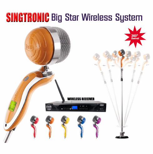 "Singtronic BBS I-30 Professional Single Wireless Microphone Karaoke System <font color=""#FF0000""><b><i>Newest Model: 2019 Sing Like A Super Star </i></b></font>"