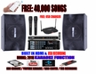 """SINGTRONIC COMPLETE 1000W KARAOKE SYSTEM SPECIALS WITH FREE: 40,000 SONGS <b><font color=""""#FF0000"""">M<i>ODEL: 2019 WITH BLUETOOTH, USB RECORDING & WIFI  YOUTUBE KARAOKE</i></font></b>"""
