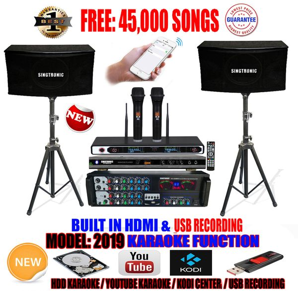 Singtronic Complete 1000w Karaoke System Specials With 45000 Songs