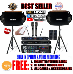 "Singtronic Complete Professional 1500W Karaoke System <font color=""#FF0000""><b><i>Newest: 2020 Loaded 50,000 Songs</i></b></font> Wifi, HDMI, Bluetooth Function & Unlimited Youtube Songs"