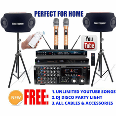 Singtronic Complete Professional 2000W Karaoke System Model: 2020 Loaded 50,000 Songs Wifi, HDMI, Voice Recording, Bluetooth & Youtube Unlimited Songs