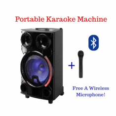 "Singtronic H & A Professional Portable 12"" Woofer DJ Lights and Bluetooth Karaoke via Youtube Karaoke System Free: Wireless Microphone Karaoke"