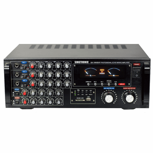 "Singtronic KA-1000DSP Professional 1700W DSP Mixing Amplifier Karaoke Built in Optical, HDMI, Bluetooth & Voice Record <font color=""#FF0000""><i>Model: 2021</i></font>"