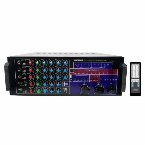 "Singtronic KA-2000DSP Professional DJ/KJ Digital 2500W Mixing Amplifier Karaoke OPTICAL, HDMI, USB Voice Recording & Bluetooth Function <font color=""#FF0000""><b><i>DSP</i></b></font> Best Seller"