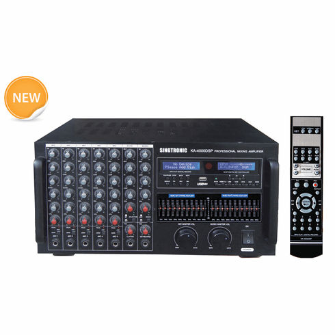 "Singtronic KA-4000DSP Professional DJ/KJ Digital 4000W Console DSP Mixing Amplifier Karaoke <font color=""#FF0000""><i><b>Model: 2019 Built HDMI, USB Voice Recording, Equilizer & Bluetooth</b></i></font> Highly Recommended"