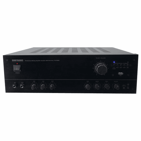 "Singtronic KA-500M Professional 1000W AV Mixing Amplifier Karaoke <font color=""#FF0000""><i><b>Newest Model: 2020 Built in USB Voice Recording Function</b></i></font>"