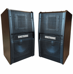 "Singtronic KS-550Pro Black Professional 1000W + 1000W Vocalist Karaoke Speaker System (Pair) Newest: 2021 Built in Compressor & 10"" Woofer"