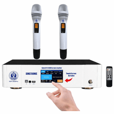 Singtronic KSP-3000Pro Professional 3000W Karaoke Sound Processor Amplifier Built Optical, Bluetooth, HDMI-ARC, Anti-Howling & Digital Equalizer Model: 2021 Touch Screen