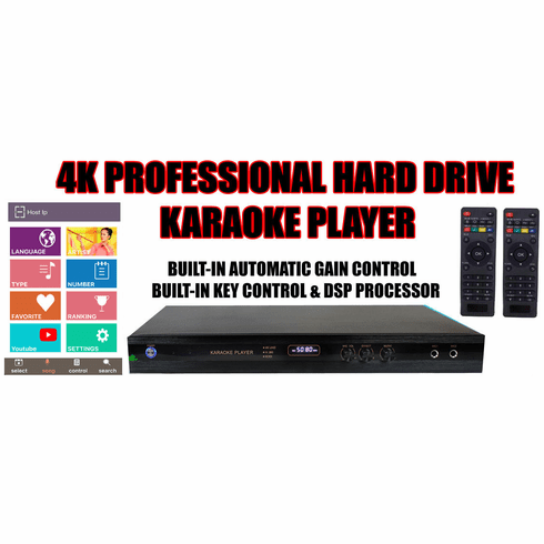 "Singtronic KTV-9000UHD Professional Digital Smart 2TB Hard Drive 4K Karaoke Player With USB & Youtube Karaoke <font color=""#FF0000""><i><b>Newest Model: 2019 FREE: 40,000 Songs & Unlimited Youtube Songs</b></i></font>"