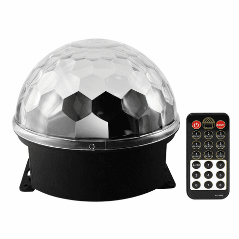 """Singtronic L.E.D Party Disco Ball Light with Remote Control & Sync Music <font color=""""#FF0000""""><i><b>New Model: 2020</b></i></font>"""