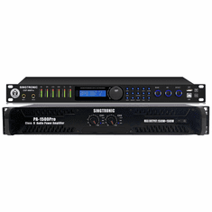 "Singtronic PA-1500DSP Professional Class D 3000W Power Amplifier + DSP-888Pro Professional Digital Key Pitch Karaoke Processor, EQ, Mixer <font color=""#FF0000"">Best Power Amplifier + Digital Processor</font> Anti-Feedback"