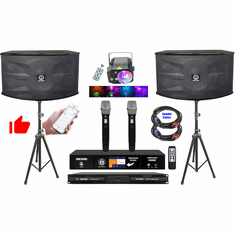"""Singtronic Professional 4000W Complete Youtube Karaoke System via Iphone, Ipad and Android PC Tablet Built in 3.5"""" Touch Screen, HDMI-Arc, Bluetooth, Optical Best System"""