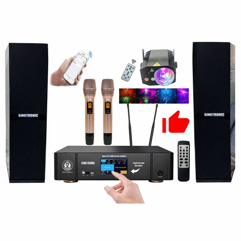 Singtronic Professional 4000W Complete YouTube Karaoke System via iPhone, iPad and Android PC Tablet