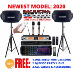 Singtronic Professional Complete 2500W Karaoke System Model: 2020 Loaded Over 80,000 Songs Wifi, HDMI, Optical, Bluetooth Function & Youtube Unlimited Songs