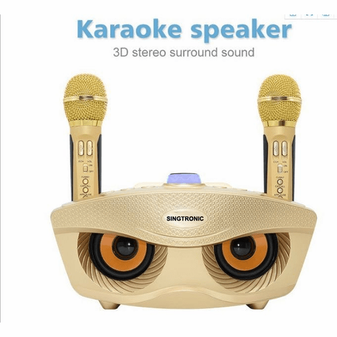 "Singtronic SD-306 Family KTV Portable Karaoke Bluetooth Speaker / USB and EQ via Youtube Karaoke <font color=""#FF0000"">Free: 2 x Wireless Microphone Karaoke</font> Perfect For Gifts"