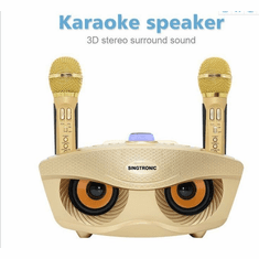 Singtronic SD-306 Family KTV Portable Karaoke Bluetooth Speaker / USB and EQ via Youtube Karaoke Free: 2 x Wireless Microphone Karaoke Perfect For Gifts