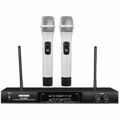 "Singtronic UHF-550KII Professional Dual Wireless Microphone Karaoke System <font color=""#FF0000""><i><b>Newest Model: 2020 White Handheld</b></i></font> Best Seller"