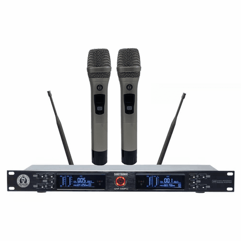 "Singtronic UHF-550Pro Professonal Dual UHF 800MHz Wireless Microphone Karaok System <i><b><font color=""#FF0000"">Model: 2020 Best Seller</font></b></i> Highly Recommended"