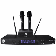 Singtronic UHF-999Pro Professional Dual UHF Rechargeable Wireless Microphones Karaoke System