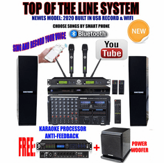 Singtronic Professional Complete 4000W Karaoke System Top of The Line Model: 2020 Super Tweeters & Power Subwoofer Bass W/ Wifi & Voice Recording FREE: 80,000 Songs & Youtube Songs