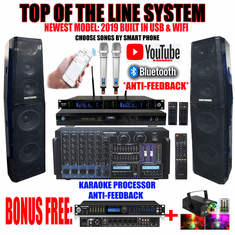 "Singtronic Professional Complete 4000W Karaoke System <font color=""#FF0000""><b><i>Top of the Line Newest: 2019 Super Tweeters &amp; Monster Bass W/ Wifi & Voice Recording</i></b></font> FREE: DSP-888Pro Processor & 80,000 Songs & Youtube Karaoke"