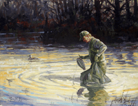 Duck Hunter: Quittin' Time - original oil
